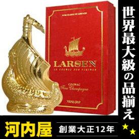 ラーセン ゴールデン スカルプチャー (ゴールド) 700ml 40度 箱付 (Larsen Golden Sculpture Viking Ship Fine Champagne Cognac) ブランデー コニャック kawahc