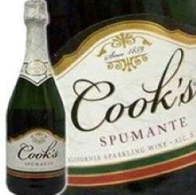カリフォルニア スパークリングワイン 【全米NO.1 スパークリングワインの甘口】 クックス・スプマンテ 750ml 正規輸入品 Cook's spmante American Sparkling Wine kawahc