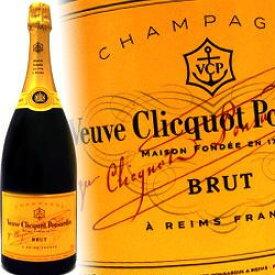 ヴーヴクリコ ポンサルダン・ブリュット マグナム ボトル 1.5L (1500ml) 正規品 ヴーヴ クリコ ヴーヴ・クリコ 激安 グラス シャンパン VEUVE CLICQUOT BRUT wine Campagne kawahc 御中元 sale セール お中元 早割 セール価格 決算 アルコール お取り寄せグルメ