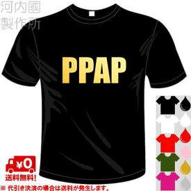 河内國製作所 「PPAP Tシャツ」全5色。おもしろTシャツ 文字T-shirt おもしろてぃーしゃつ 半袖ドライTシャツ メール便は送料無料