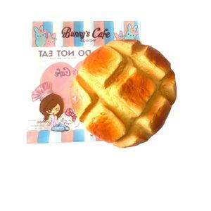 『海外スクイーズ』Bunny'sCafe海外 輸入 アメリカ 雑貨 玩具 おもちゃ 低反発 バニーズカフェ メロン パン ジャンボ スイーツ 食べ物 可愛い かわいい 女の子 女子 子供 4歳 5歳 6歳 8歳 小学生