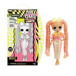 L.O.L. Surprise! O.M.G. Lights Dazzle Fashion Doll with 15 Surprises OMG 誕生日 かわいい lol LOLサプライズ lolサプライズ エルオーエルサプライズ 光る ブラックライト おもちゃ 女の子 サプライズトイ プレゼ