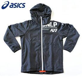 a47821d19c7e97 アシックス ランニング ウェア メンズ ウインドフーディー パーカー A77 長袖 XAW725 ブラック×バーチ
