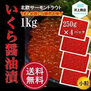 【送料無料】いくらの醤油漬け 1kg 北欧サーモンいくら お得なまとめ買い 大容量 大人気イクラ デンマーク産 4パック(250g×4) お取り寄せグルメ 厳選グルメ うにいくら丼 寿司 海鮮丼 下関