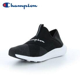 チャンピオン スリッポン スニーカー レディース ビーンズ フォーム スリップ2 ACT011 ブラック黒 CHAMPION BEANS FORM SLIP2 ACT011 BLACK