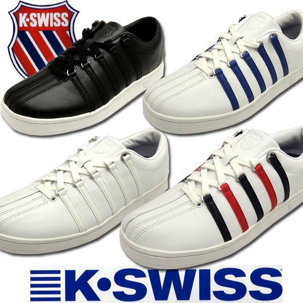 【新定番】【送料無料】ケースイス メンズレディーステニススタイルレザースニーカー クラシック88 ブラック ホワイト ブルー レッド k-swiss Classic88 02P03Dec16