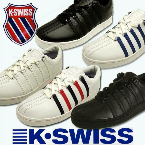 ケースイス スニーカー k-swiss クラシック88 テニスシューズ レザー ブラック ホワイト ブルー レッド classic88 メンズ レディース 送料無料