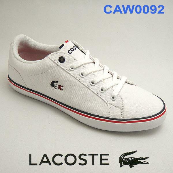 ラコステ レディースキャンバススニーカー lerond caw0092 21G ホワイト/ホワイト lacoste トリコロール 【10%OFF】【送料無料】靴シューズ
