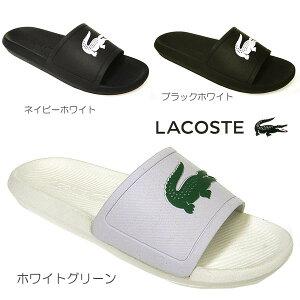 ラコステサンダルメンズスポーツCROCOSLIDEネイビーブラックホワイト/グリーン白lacosteCMA0018クロコダイルワニ