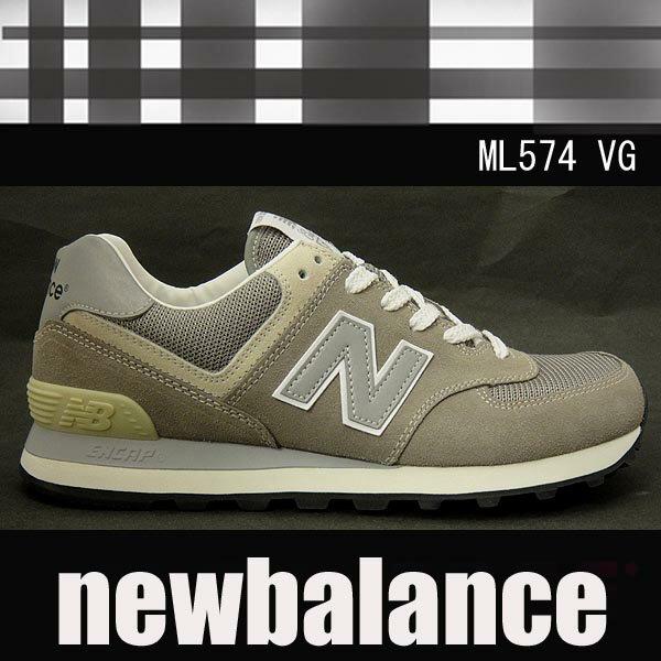 ニューバランス レディースメンズスニーカー ML574 グレーnewbalanceML574VG 【送料無料】【クラシック】