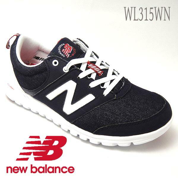 ニューバランス スニーカー レディース ウォーキングWL315 ネイビー newbalance wl315wn 送料無料 撥水