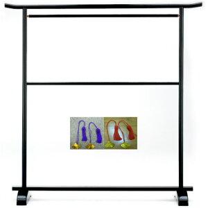 二段大衣桁C-1102 黒 日本製扇型房クリップ1組セット打掛用 着物用 浴衣用