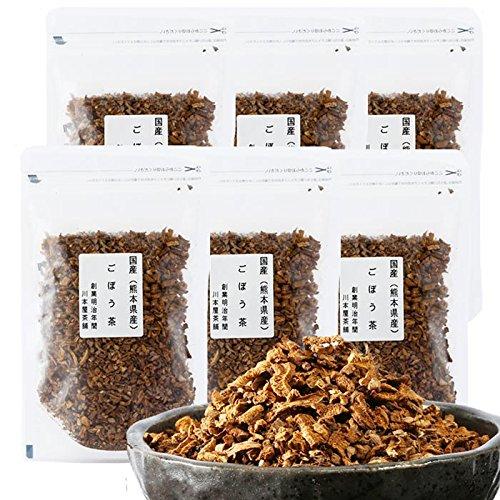 ごぼう茶 国産 無農薬 送料無料 大容量お得セット国産の濃いごぼう茶 70g×6袋セット 420g 牛蒡茶 送料無料 水溶性植物繊維豊富 ポリフェノール
