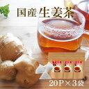 【お盆も休まず営業中!】しょうが紅茶 ティーバッグ 体を温める「生姜茶」気軽に飲めるティーパックタイプ2g×20包の…
