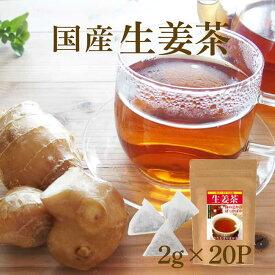 しょうが紅茶 ティーバッグ体を温める紅茶「生姜茶」ティーパックタイプ 砂糖不使用 こうちゃ【国産 健康茶】【ネコポス】