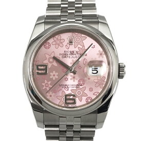【中古】ロレックス オイスター デイトジャスト ランダム番 ステンレススチール 腕時計 116200 自動巻き ピンクフラワー文字盤 ROLEX