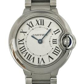 【中古】カルティエ バロンブルーSM ステンレススチール 腕時計 W69010Z4 クォーツ シルバー文字盤 Cartier