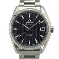 【中古】オメガシーマスターアクアテラ150Mコーアクシャルステンレススチール腕時計231.10.39.21.01.001自動巻き黒文字盤OMEGA