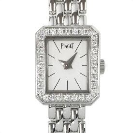 【中古】ピアジェ ミニプロトコール K18WG ホワイトゴールド ダイヤモンドベゼル 腕時計 GOA34501 クォーツ 白文字盤 PIAGET