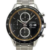 【中古】タグホイヤーカレラリングマスタークロノグラフ腕時計CV201V.BA0794自動巻き黒文字盤裏スケルトンTAGHeuer500本限定