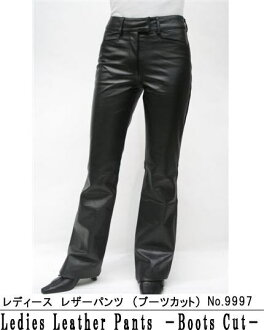 Cow leather pants long pants ( bootcut ) 9997 book leather pants leather pants leather pants leather Pan leather bottom