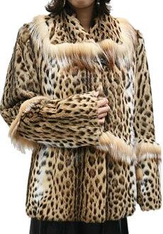 Leopard cat fur jacket 2992 Leopard Jacket & women's fur