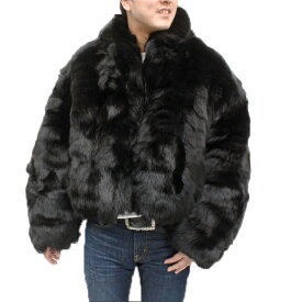 メンズ ファーコート メンズ ブルーFOX 毛皮ジャケット AF22-302 毛皮メンズ 紳士毛皮 キツネ 天然毛皮 メンズアウターコート