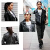 Lady's double riders jacket lamb leather genuine leather leatherette jacket 4556 S/M/L/LL/3L