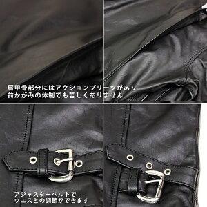 メンズレザージャケットトラッカーライダースジャケットカウレザージャケットmlrj0022