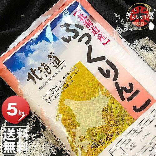 30年産 北海道産 ふっくりんこ 5kg <白米> 【送料無料】【北海道米 送料込み 米 お米 真空パック選択可】