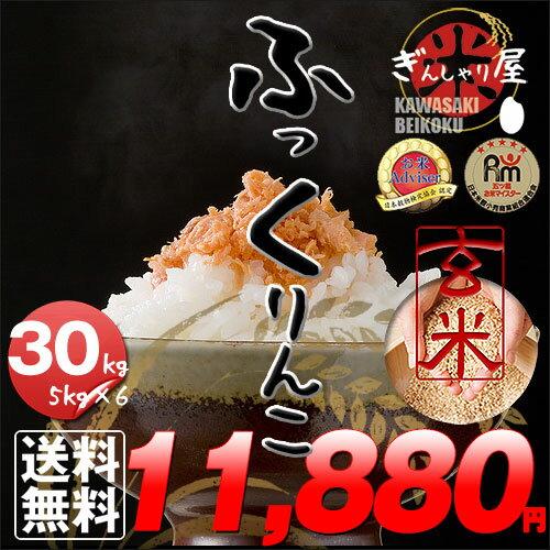新米 30年産 北海道産 ふっくりんこ 玄米 30kg (5kg×6袋セット)<玄米/白米/分づき米> 【送料無料】【北海道米 送料込み 米 お米 真空パック選択可】