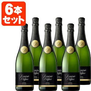 【送料無料】[6本セット]ドミニオ・デ・ロス・デュケス カヴァ・ブリュット・ナチュレ 750ml×6本※一部の地域は送料無料対象外となります<瓶ワイン><白><スパーク> 【12本まで1個口配送出来ます】超辛口泡 シャンパンと同じ製法[mc16am]