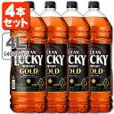 【4本セット送料無料】キリン オーシャンラッキーゴールド 37度 4000ml(4L)×4本 [1ケース]※北海道・九州・沖縄県は送料無料対象外です。オーシャン ラッキー ゴールド ウイスキー ジャパ