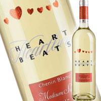 【送料無料 】ハートビート 「胸のときめき」 白 シュナン ブラン ミディアム スウィート750ml<瓶ワイン><白>【12本まで1個口配送出来ます】[ゆうパックでの発送となります] ※北海道、沖縄県は送料無料対象外となります。[mc14sa]