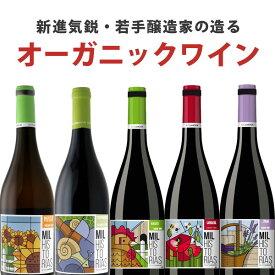 【6本セット送料無料】新進気鋭・若手醸造家の造るオーガニックワイン6本セット<ワインセット>クリスマス [T4861.0.SE][VOGA]