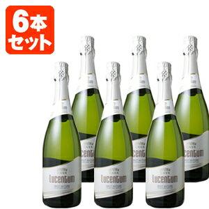 【送料無料】[6本セット]ルセントゥム・カヴァ・ブリュット・ナトゥール 750ml<瓶ワイン><スパーク>※一部の地域は送料無料対象外となりますスパークリングワイン ナチュール ナチュレ[1709AM][SP]