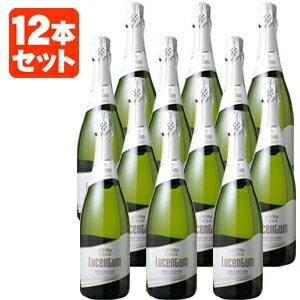 【送料無料】[12本セット]ルセントゥム・カヴァ・ブリュット・ナトゥール 750ml<瓶ワイン><スパーク>※一部の地域は送料無料対象外となりますスパークリングワイン ナチュール ナチュレ[1709AM][SP]