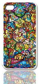 ディズニースマホケース(ホワイト)【ステンドグラス】選べる機種(iPhone7,7 Plus,6s,6,6s Plus,6 Plus,5C,5,SE(第一世代),5s,4/4s,GALAXY S5,S4,Xperia A)Disney/スマホカバー