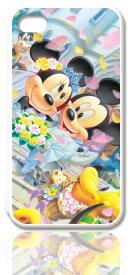 ディズニースマホケース(ホワイト)【フラワーシャワー】選べる機種(iPhone7,7 Plus,6s,6,6s Plus,6 Plus,5C,5,SE(第一世代),5s,4,4s,GALAXY S5,S4,Xperia A)Disney/スマホカバー