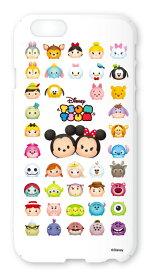 ディズニースマホケース(ホワイト)【ディズニーツムツム】(iPhone6,5/5s ) Disney/スマホカバー