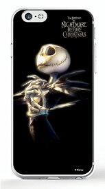 ディズニースマホケース(クリア) ナイトメアー・ビフォア・クリスマス【ジャック・スケリントン】選べる機種(iPhone6,6s,6 plus/5C,5/5s/SE(第一世代),4/4s,GALAXY S5/S4,XperiaA)Disney/スマホカバー