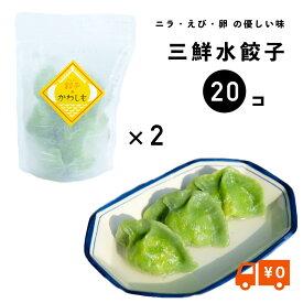 【大人気!送料無料】三鮮水餃子2パックセット(冷凍、10ヶ×2) 餃子 水餃子 手作り ぎょうざ 冷凍餃子 皮から手作り 長崎 もちもち 餃子のかわしも 贈り物