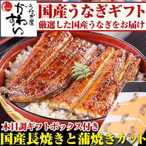お中元 国産うなぎ長焼き・蒲焼きカットのセット 送料無...