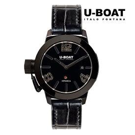 U-BOAT ユーボート 7124 メカニカル 自動巻き メンズ 腕時計 ウォッチ 時計 ブラック色 レザーストラップ 正規輸入品 メーカー保証付 誕生日プレゼント 男性 ギフト ブランド かっこいい もてる 送料無料