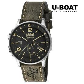 U-BOAT ユーボート 8400 メカニカル 自動巻き メンズ 腕時計 ウォッチ 時計 シルバー色 カーフストラップ 正規輸入品 メーカー保証付 誕生日プレゼント 男性 ギフト ブランド かっこいい もてる 送料無料