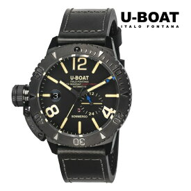 U-BOAT ユーボート 9015 メカニカル 自動巻き メンズ 腕時計 ウォッチ 時計 ブラック色 カーフストラップ 正規輸入品 メーカー保証付 誕生日プレゼント 男性 ギフト ブランド かっこいい もてる 送料無料