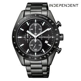 CITIZEN シチズン INDEPENDENT インディペンデント BA7-140-51 電池式クオーツ メンズ 腕時計 ウォッチ 時計 ブラック色 金属ベルト 国内正規品 メーカー保証付 誕生日プレゼント 男性 ギフト ブランド かっこいい もてる 送料無料