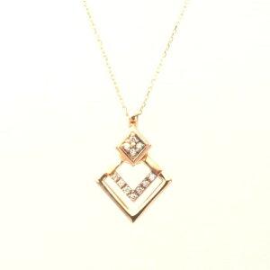 【kawasumi】 K10 PG ダイヤ プチネックレス ピングゴールドネックレス ダイヤモンド ネックレスダイヤペンダント 誕生日 記念日 プレゼント ギフト お値打ち お出かけ ジュエリー 川スミ 送料