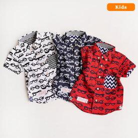 河谷シャツ Grasses (メガネ) カジュアルシャツ 半袖 シャツ / キッズ 子供服 男の子 女の子 / k1823205