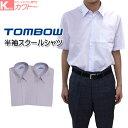 【送料無料】スクールシャツ 半袖 男子 学生服シャツ 形態安定 カッターシャツ ノンアイロン トンボ 2枚セット